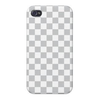 Tablero de damas gris claro iPhone 4 protectores