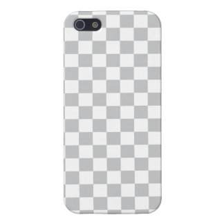 Tablero de damas gris claro iPhone 5 carcasa