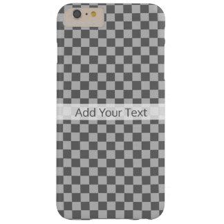 Tablero de damas gris de la combinación de Shirley Funda Barely There iPhone 6 Plus