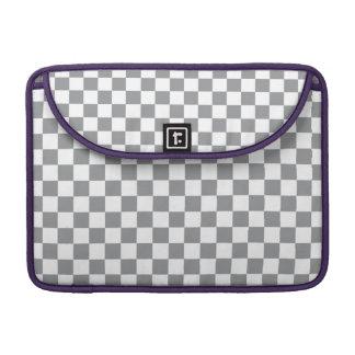 Tablero de damas gris funda para MacBook pro
