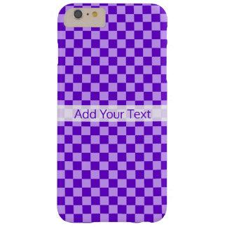 Tablero de damas púrpura de la combinación de funda barely there iPhone 6 plus