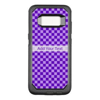 Tablero de damas púrpura de la combinación por funda otterbox commuter para samsung galaxy s8