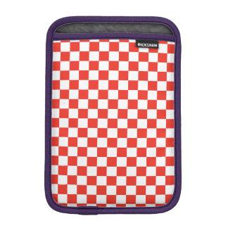 Tablero de damas rojo funda para iPad mini