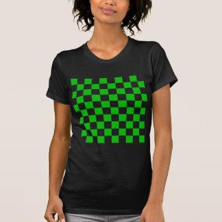 Tablero de damas verde camiseta