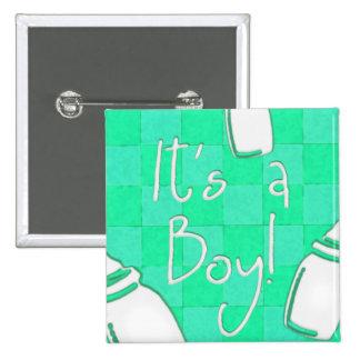 ¡Tablero de damas verde es un muchacho! Pins