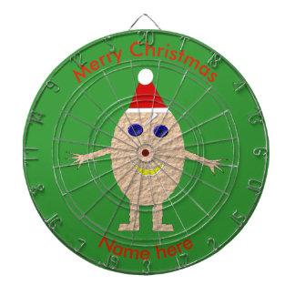 Tablero de dardo divertido del huevo del navidad