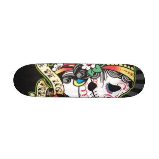 Tablero de Dia de los Muertos Skate Monopatín 19,6 Cm