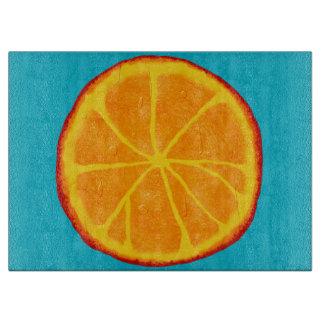 Tablero de encargo anaranjado jugoso del corte del tablas para cortar