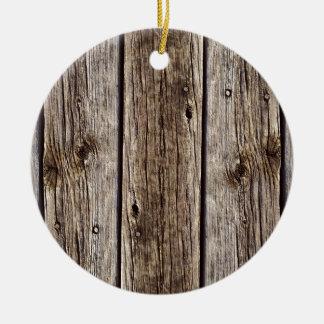 Tablero de madera rústico de la foto, resistido adorno redondo de cerámica