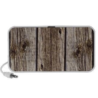 Tablero de madera rústico de la foto, resistido re mini altavoz