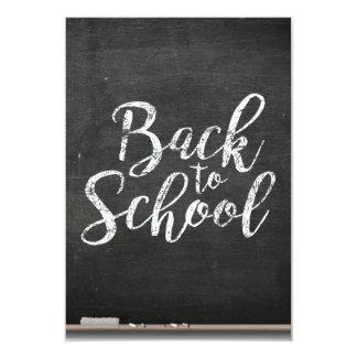 Tablero de tiza negro de nuevo a escuela invitación 8,9 x 12,7 cm