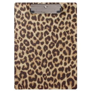 Tablero del estampado leopardo carpeta de pinza