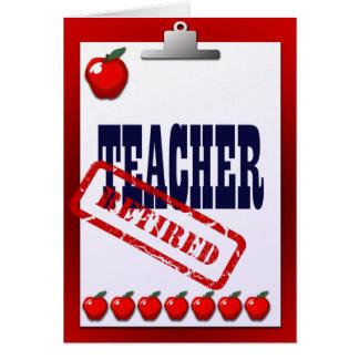 Tablero jubilado de las manzanas del profesor tarjeta