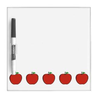 Tablero seco del borrado de cinco Apple