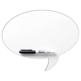 Tablero seco del borrado de la burbuja oval de enc pizarras blancas de calidad