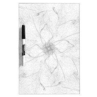 Tablero seco del borrado de la flor hermosa