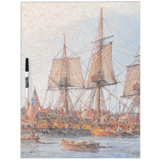 Tablero seco del borrado del buque de guerra del