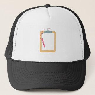 Tablero y lápiz gorra de camionero