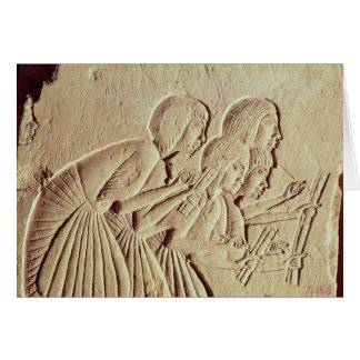 Tableta que representa cuatro escribanos en el tra tarjeta de felicitación