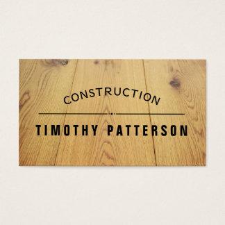 Tablón de madera del personalizar de la tarjeta de