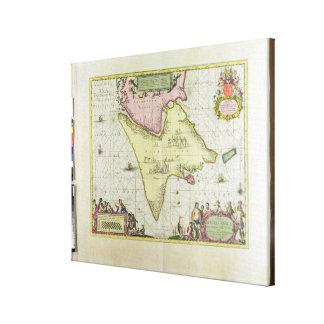 Tabula Magellanica, Quatierrae del Fuego, placa 18 Impresión En Lienzo