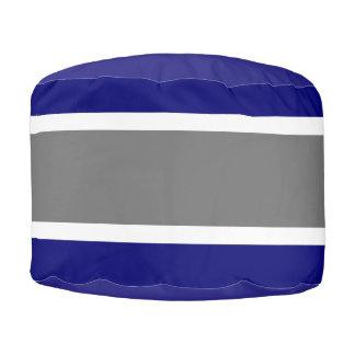 Taburete azul y gris de MVB del diseño 1 Pouf