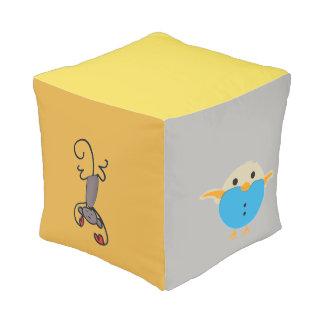 Taburete colorido del cubo de los niños de los pouf