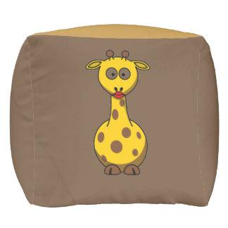 Taburete cubicado jirafa única del bebé y elegante pouf