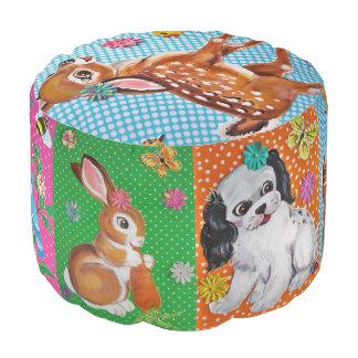 Taburete elegante lamentable de los animales del pouf