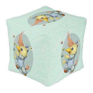 Taburete GRANDE del cubo del poliéster del BEBÉ Pouf