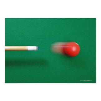 Taco de billar invitación 12,7 x 17,8 cm