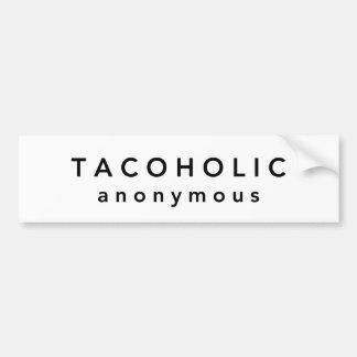 TACOHOLIC anónimo Pegatina Para Coche