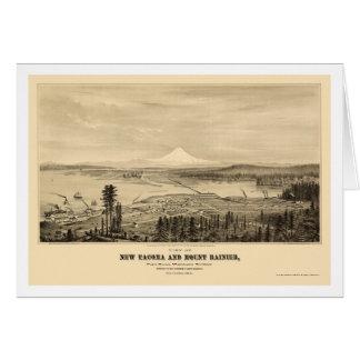 Tacoma mapa panorámico de WA - 1878 Tarjetas