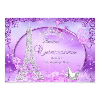 Tacones altos mágicos de princesa Quinceanera Invitación 12,7 X 17,8 Cm