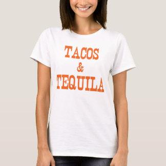 Tacos y camiseta del Tequila, camiseta de la