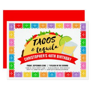 Tacos y fiesta del Tequila Invitación 12,7 X 17,8 Cm