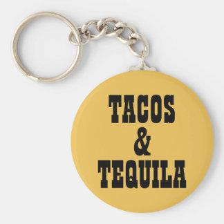 Tacos y Tequila Llavero Redondo Tipo Chapa