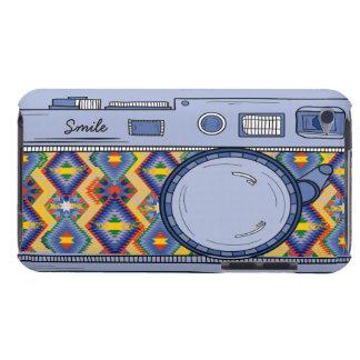 Tacto azul retro de iPod de la cámara de la foto d Case-Mate iPod Touch Fundas