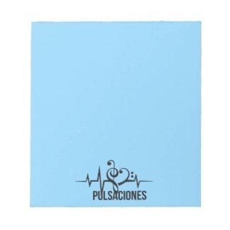 Tag Pulsaciones Blue Bloc De Notas