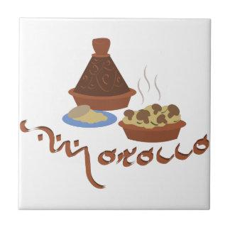 Tagine Marruecos Azulejo Cuadrado Pequeño