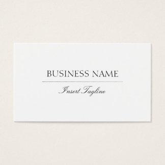 Tagline elegante tarjeta de negocios