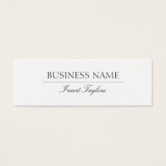 Tagline elegante tarjeta de visita pequeña