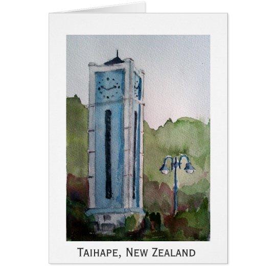 Taihape, tarjeta de Nueva Zelanda