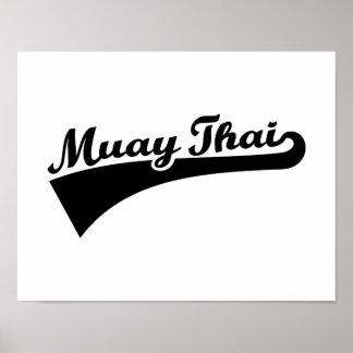 Tailandés de Muay Póster