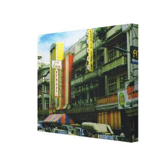 Tailandia, Bangkok, calle de la ciudad Lienzo Envuelto Para Galerias
