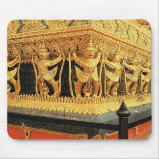 Tailandia, Bangkok, decoración del templo budista Alfombrilla De Ratón