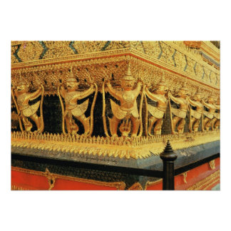 Tailandia, Bangkok, decoración, Wat Phra Keo Póster