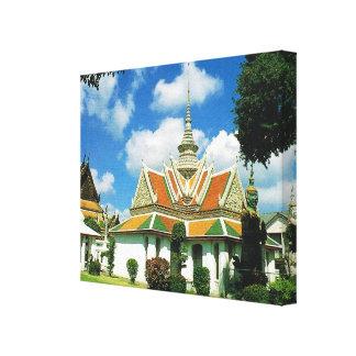 Tailandia, Bangkok, templo de Aroon Impresiones En Lona Estiradas