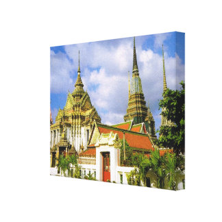 Tailandia, Bangkok, Wat Phra Chetuphon Impresión En Lienzo Estirada