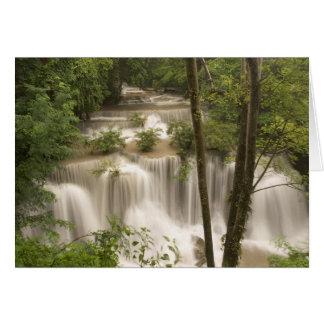 Tailandia, cascada de Huai Mae Khamin Tarjeta De Felicitación